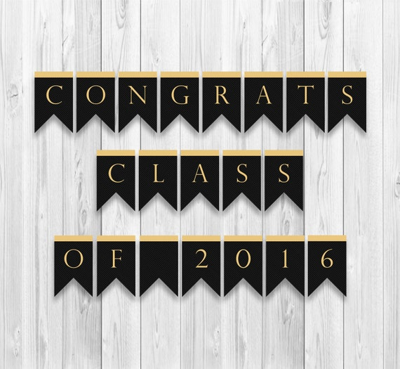 Revered image in congratulations banner printable