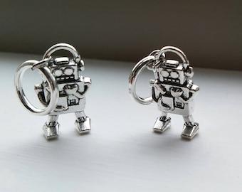 Robo-knitting - set of 4 robot stitch markers