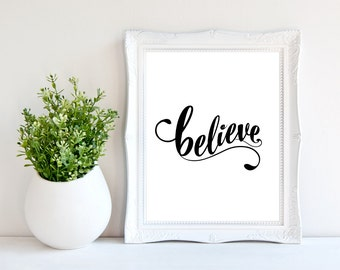 Believe quote Etsy