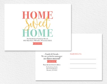 We've Moved, New Home Announcement, New Address, Moving Announcement Printable, Postcard Template, Editable, PDF Instant Download #BPB200
