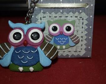 Blue Owl Keyring