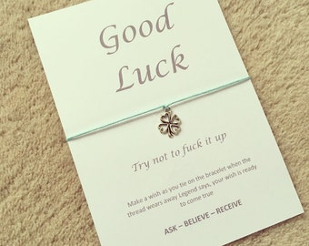 Good luck wish bracelet