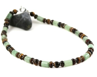 Tiger Iron and Aventurine Necklace