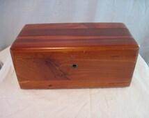Cedar Lane Chest, Vintage Chest, 60's Chest, Salesman's Model, Lane Chest, Wooden Box, Rustic Box, Cottage Chic Box