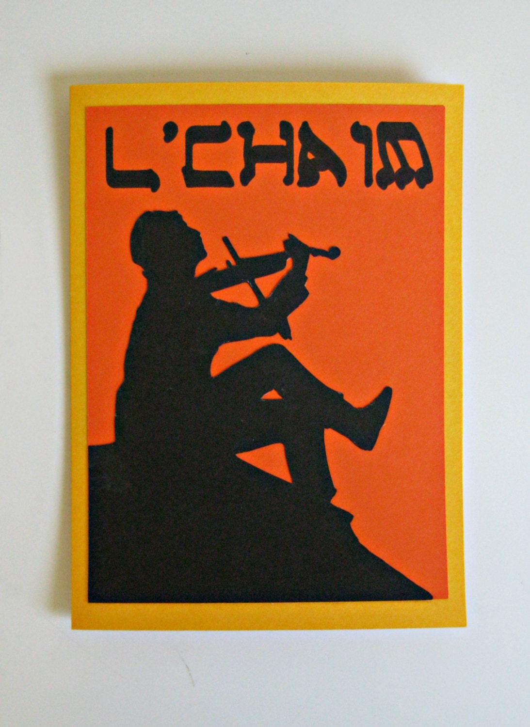 Jewish Heritage Greeting Card L'Chaim By SpareRoomStationery