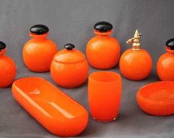 All tango orange glass (Czechoslovakia)