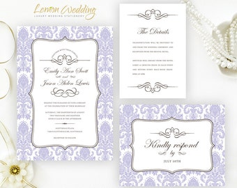 cheap wedding invitation kits by lemonwedding on etsy, Wedding invitations