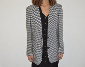 Jacket vintage - feet of hen - size M - coat - jacket - retro - blazer jacket