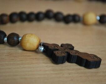 Wooden rosary Prayer Beads Spirituality beads Pocket wooden rosary Home decor Spirituality decor Prayer Beads