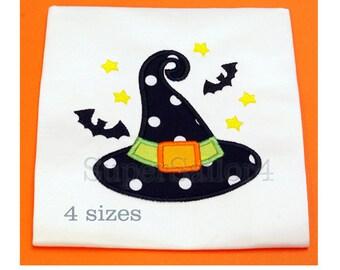 Witch hat applique design, Halloween applique design