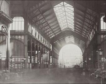 24x36 Poster . Les Halles, Central Market, Paris, France. 1870