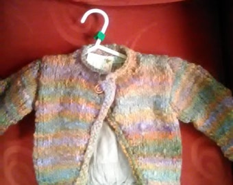 Country Garden cardigan to fit a little girl aged 6-9months