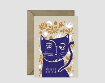 Henri Matisse Cat Card