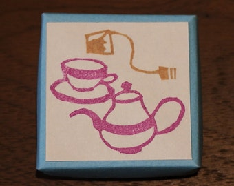Tea Set  Rubber Stamps