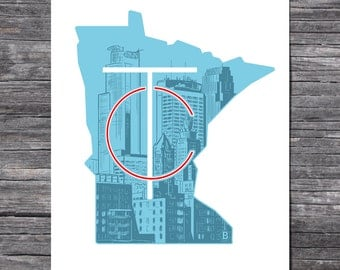 Minneapolis Twin Cities Print