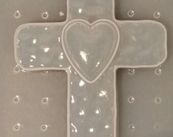 Edgy/Rugged Cross w/ Heart Mold