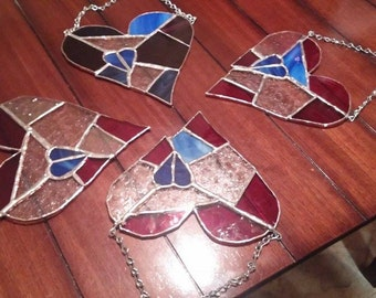 Items similar to Stained Glass Heart With Angel Wings on Etsy - photo#28