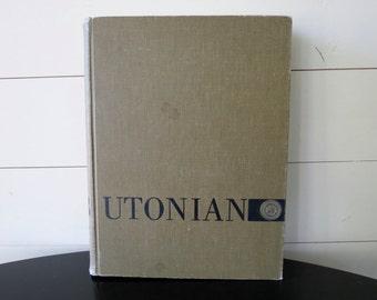 College Yearbook - 1958, Utonian, University of Utah, Vintage Yearbook, 1950's Photos, Mid Century, College Memorablia