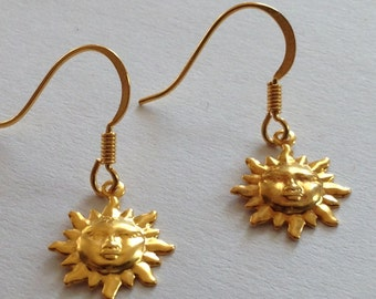 Golden Sun EARINGS gold