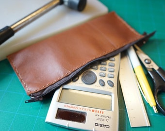 Make to order - Leather pencil case (zip) 拉鍵皮革筆袋