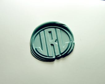 3 triple initials monogram letters Personalized wax seal stamp family party wax seal stamp invitation wax seal