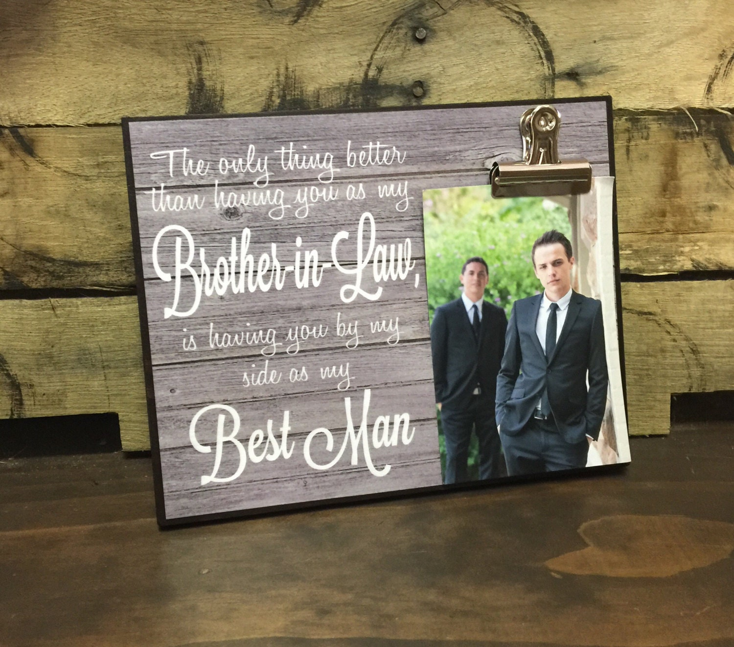7 Brothers Wedding Gift : Best Man Gift, Wedding Thank You, The Only Thing Better Than Having ...