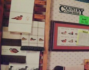 Cross Stitch Pattern Book - Ducks In A Row by Country Cross-Stitch Book 36 - Mallards, Geese, Pheasant, Loon, Quail, Ducks