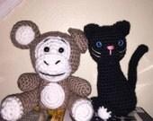 Amigurumi Cat and Monkey