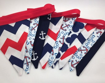 Nautical Fabric Banner Bunting - Flags - Pennant