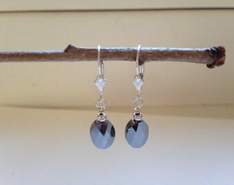 Silver Night Earrings