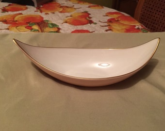 Lenox Peach and Cream Dish with 24 K Gold Trim