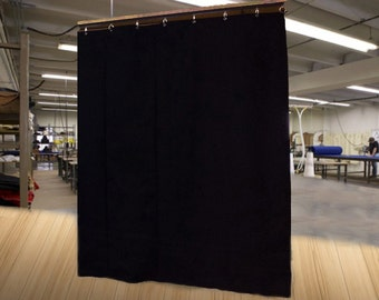 """Economy Black Curtain Panel/Backdrop/Partition, 10'H x 4'6""""W, Non-FR, Free Shipping!"""