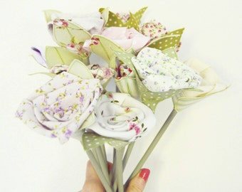 Fabric Flower Bunches