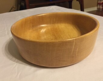 Hand turned sycamore bowl