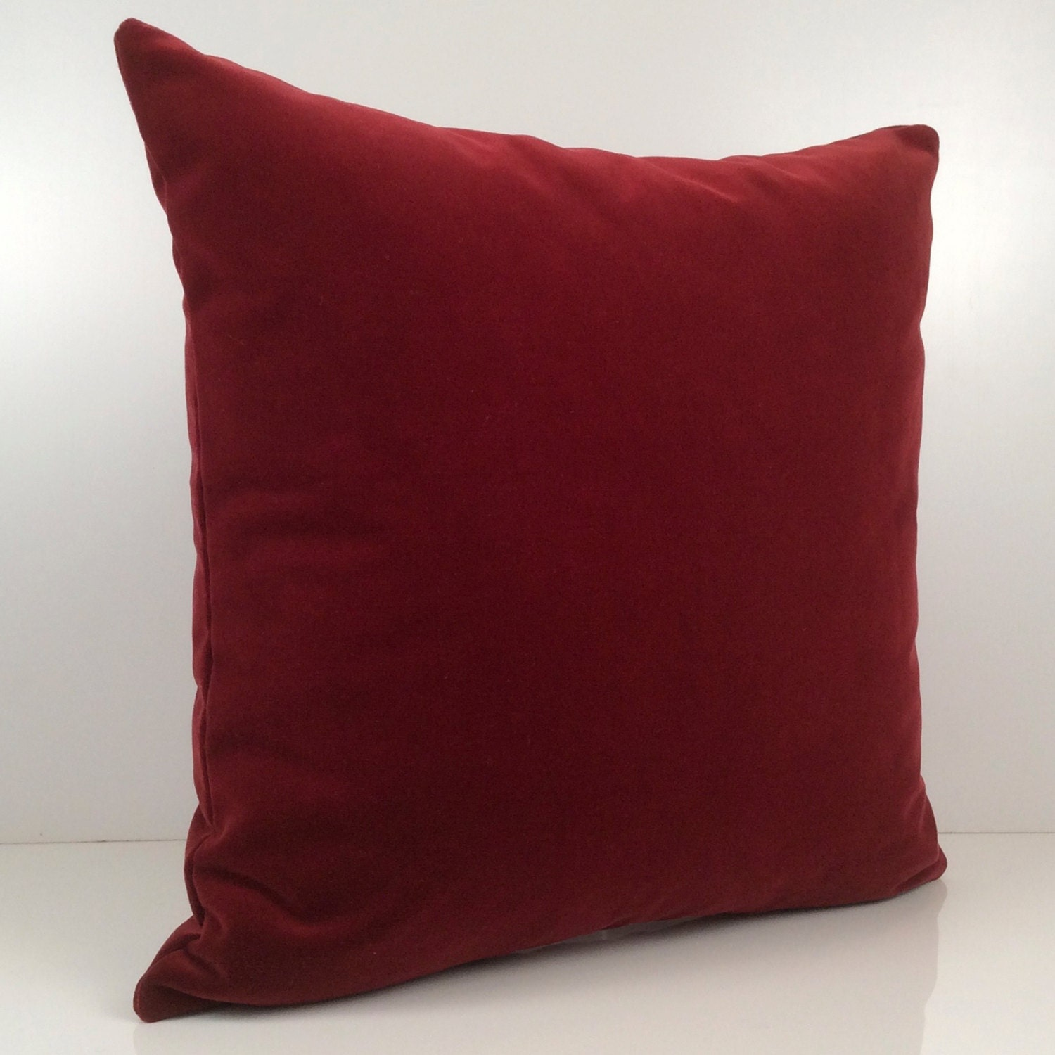 Bright Burgundy Pillow Throw Pillow Cover Decorative By