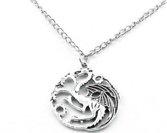 Necklace pendant Game Of Thrones Targaryen Sigil Dragon . TMPL_SKU007641
