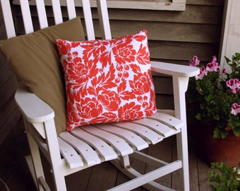 "Orange Hawaiian Throw Pillow Cover 18"" by 18"""