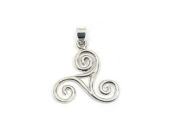 Pendant silver - Triskel