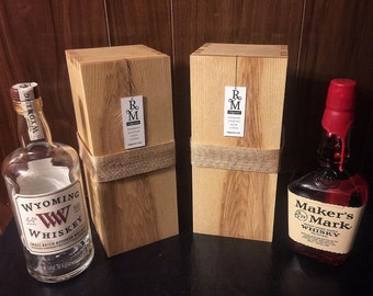 Personalized Spirits Box - Handmade Spirits Box, Custom Gift Box, Handmade Gift Box, Personalized Gift Box, Liquor Box, Whiskey Box