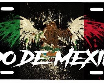 """Estado De Mexico Aluminum License Plate Placa  6""""' x 12"""""""