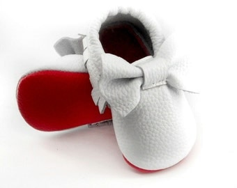 Red Bottom Genuine Leather Moccs
