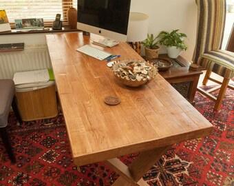 Oak Top Desk From Reclaimed wood