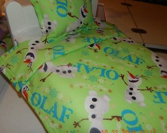 Doll Bedding - Olaf