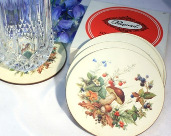 Country Chic Pimpernel Fairy Dell Coasters, Set of Six Vintage Coasters