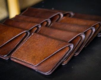 Leather slim wallet / credit card holder