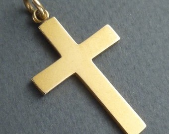 14 K gold cross