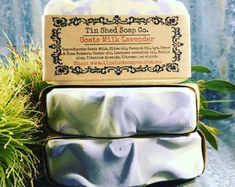 Goats Milk Lavender with Shea & Cocoa Butters Handmade Natural Soap. Made in Australia.