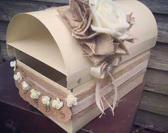 Rustic card wedding letter box