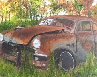 A Rusty Memory -  10 x 8 oil on canvas painting