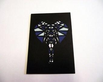A6 Hand-Cut Elephant Card